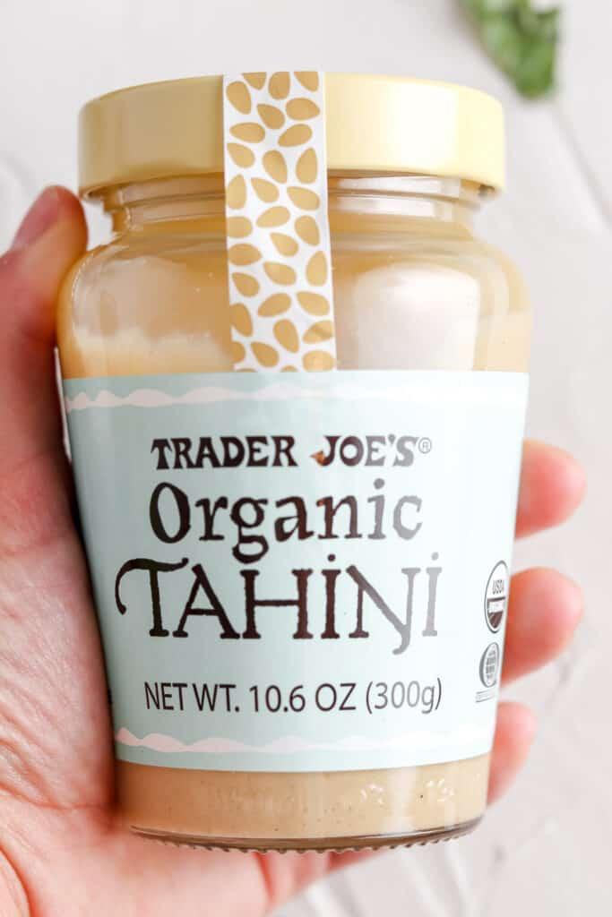 The Best Kale Salad tahini sauce of choice