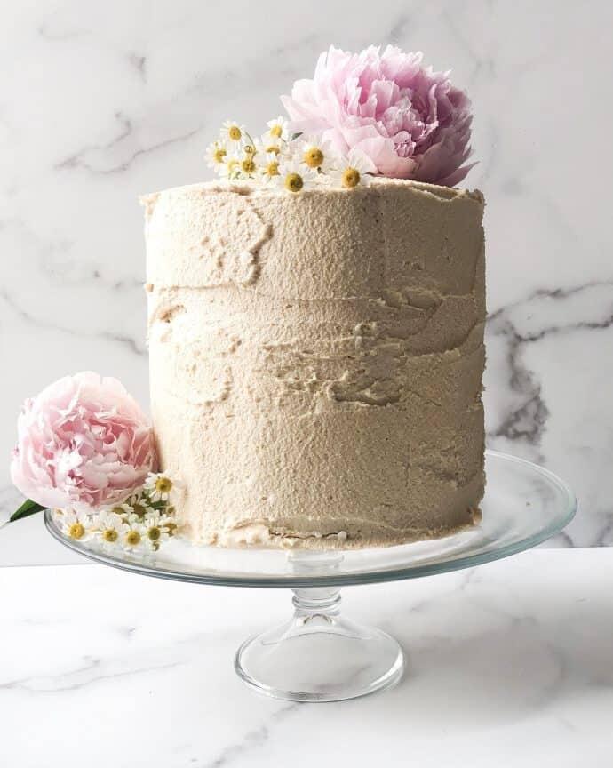 Paleo 7 Layer Vanilla Cake