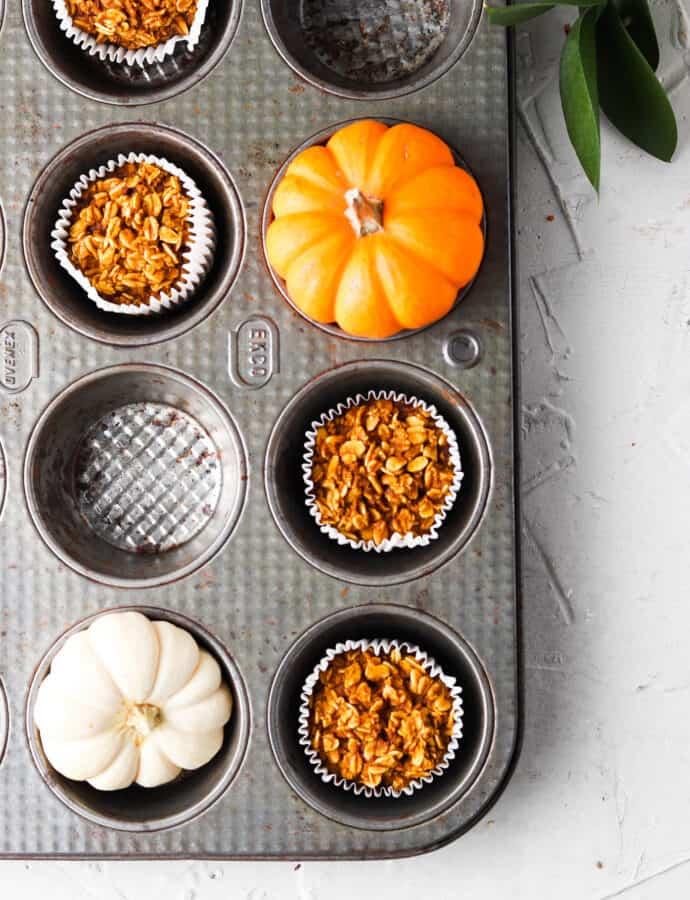 Pumpkin Spice Oat Flour Muffins (Gluten Free, Egg Free Option)