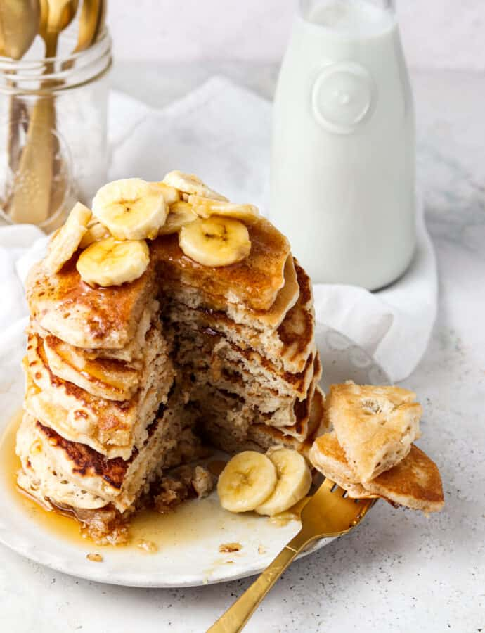 3 Ingredient Protein Pancakes (Paleo, Whole30)