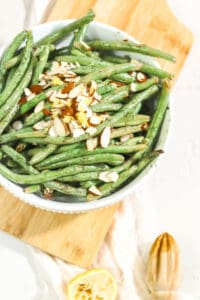 Lemon Dill Green Beans With Almond Slivers, Lemon Dill Green Beans With Almond Slivers ( PALEO | VEGAN | WHOLE30)