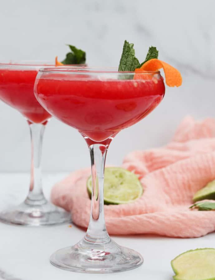 Watermelon Ginger Mojito Mocktail