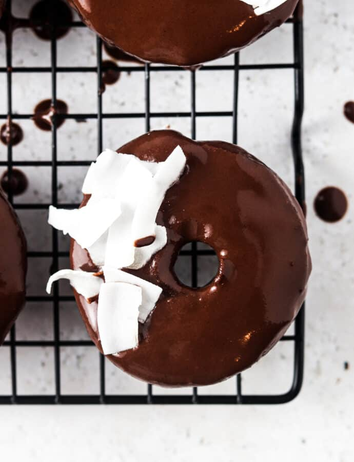 Gluten Free Donut With Chocolate Ganache (Dairy free, Paleo)