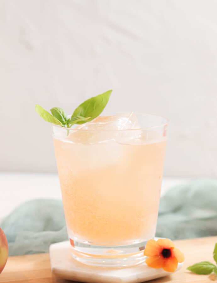 Peach Basil Mocktails (PALEO | AUTOIMMUNE PROTOCOL FRIENDLY)