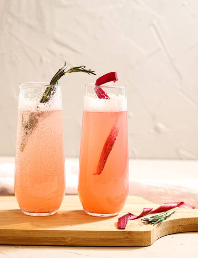Vibrant Rosemary Rhubarb Mocktail (PALEO)