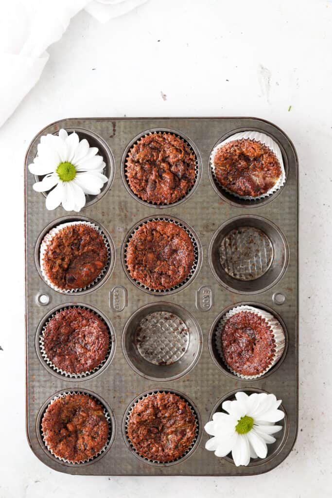muffins in the muffin tray