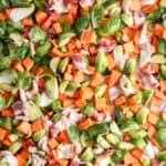 Sweet Potato Brussels Sprout Bacon Breakfast Sheet Pan3