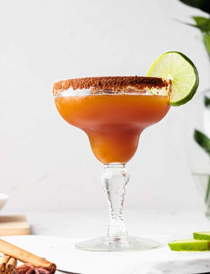 Apple Margarita Mocktail (REFINED SUGAR FREE)
