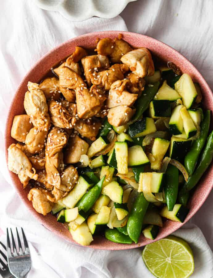 Whole30 Chicken Teriyaki Bowl (AIP option, Keto, Paleo)