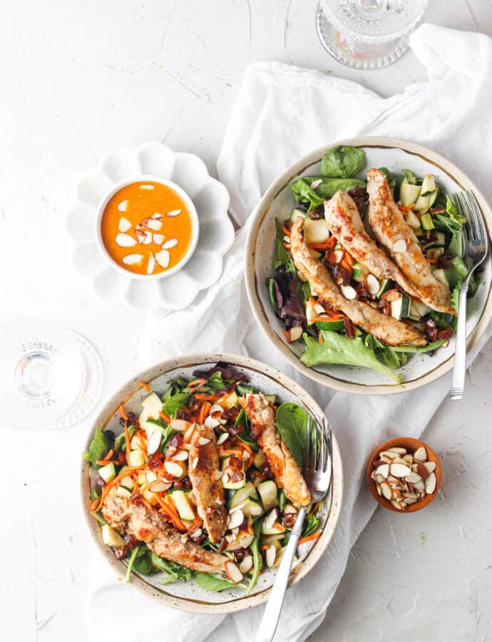Paleo & Whole30 Middle Eastern Nut Crusted Chicken Bowl