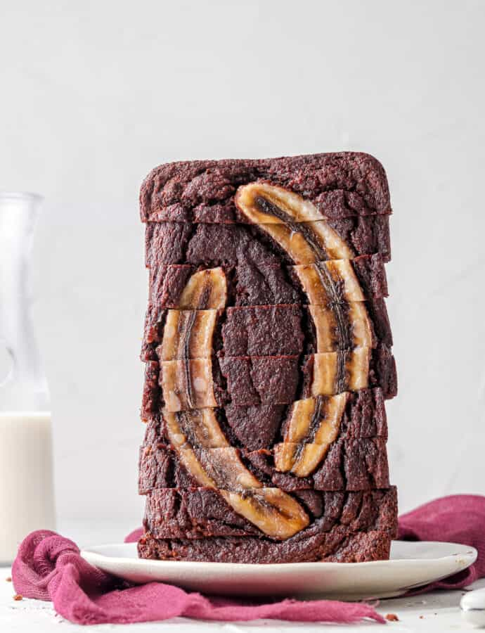 Paleo Chocolate Banana Bread (No Added Sugar Option)