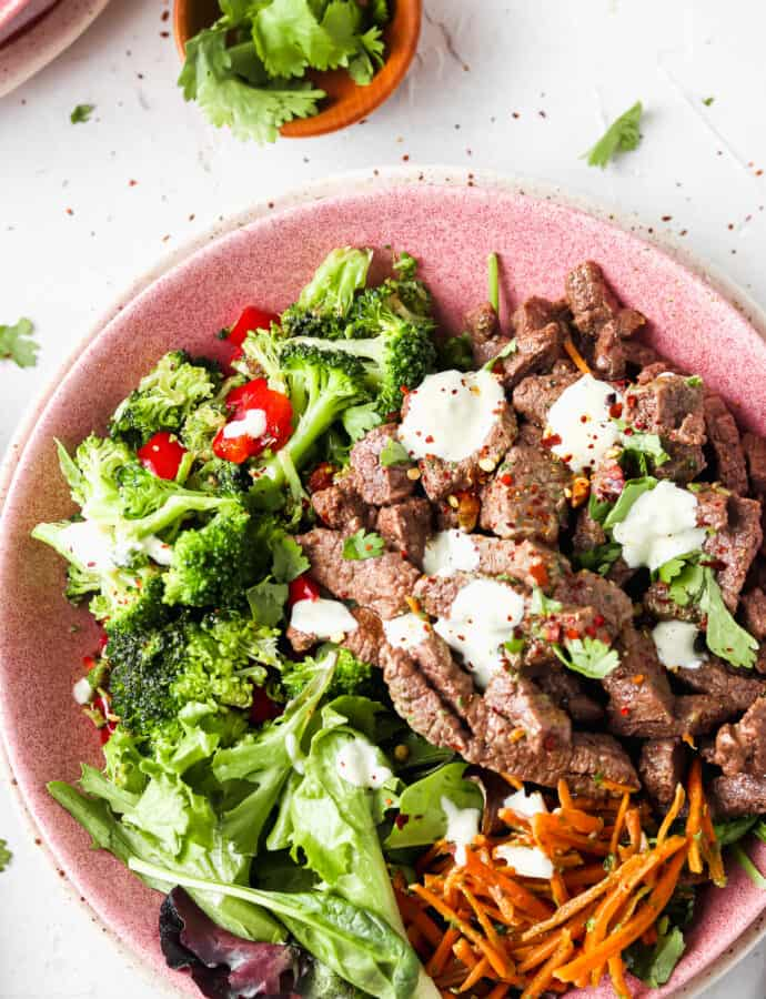 Paleo & Whole30 Banh Mi Steak Bowl