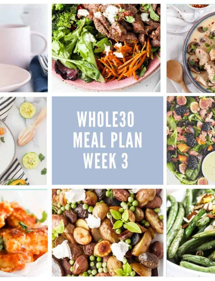 Paleo & Whole30 Week 3 Meal Plan