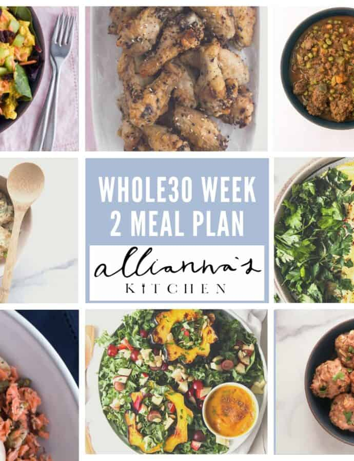 WEEK 2 WHOLE30 MEAL PLAN (10/12-10/19)