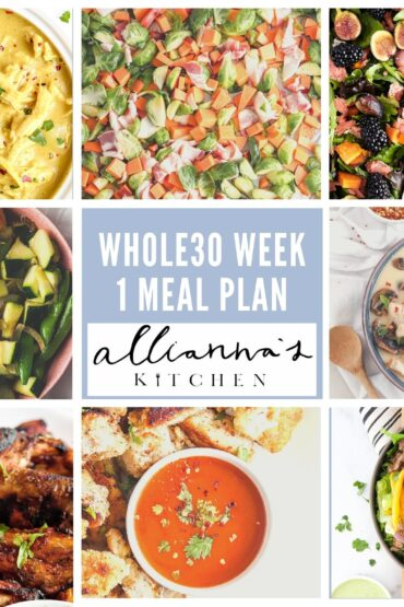WEEK 1 WHOLE30 MEAL PLAN (10/5-10/12)
