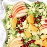 close up corner of salad