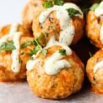 whole30 buffalo chicken meatballs, Buffalo Chicken Meatballs (Paleo | Whole30 | Keto)