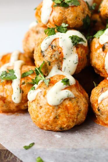 Buffalo Chicken Meatballs (Paleo | Whole30 | Keto)