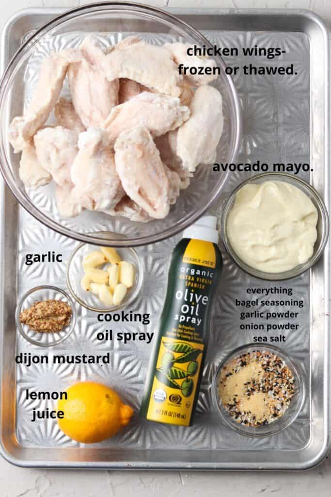whole30 garlic aioli, Everything Bagel Seasoned Chicken Wings w/ Garlic Aioli (Keto, Paleo, Whole30)