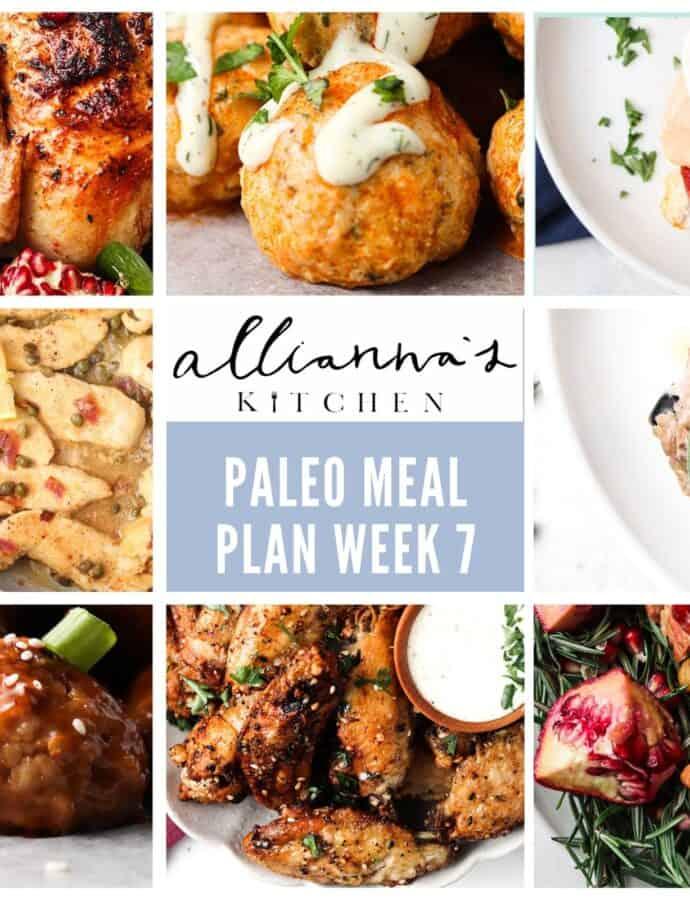 Complete Paleo Meal Plan Week 7