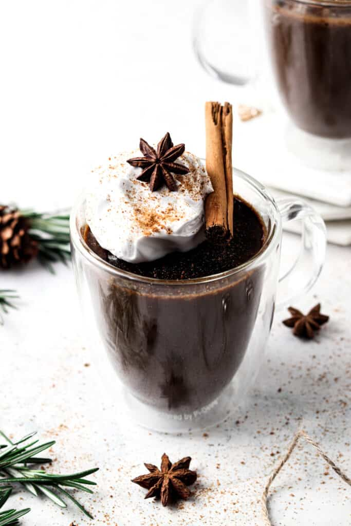 aip hot chocolate 90 degree anhle shot
