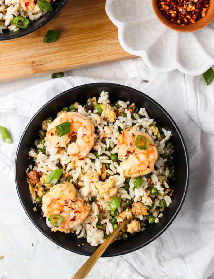Shrimp Fried Cauliflower Rice (Paleo, Keto, AIP, Whole30)