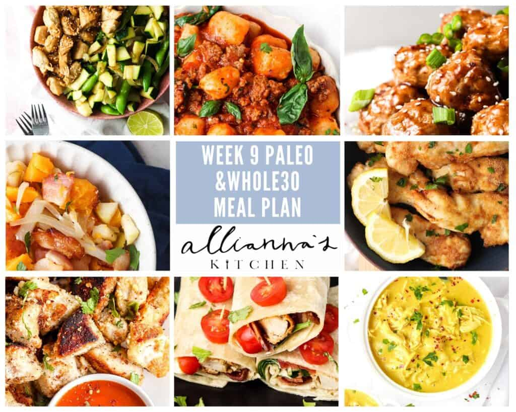 whole30 week 9 meal plan meals