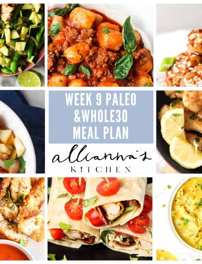 Week 9 Paleo Whole30 Friendly Meal Plan 8