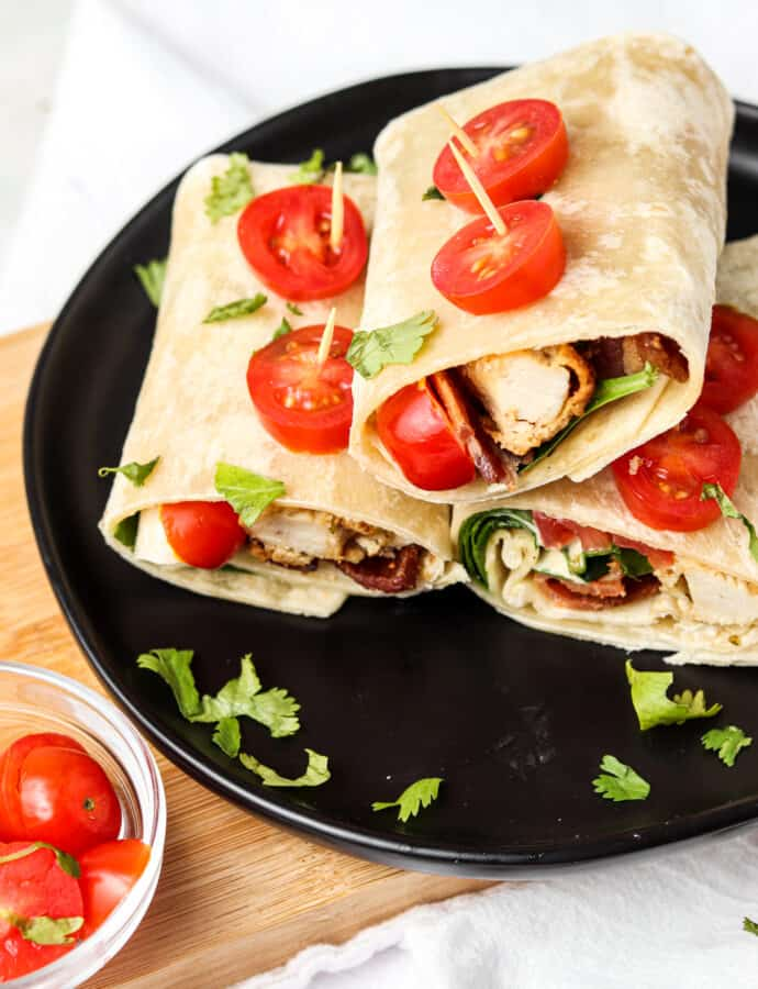 Crispy Bacon Chicken Ranch Wraps (Whole30, AIP option)