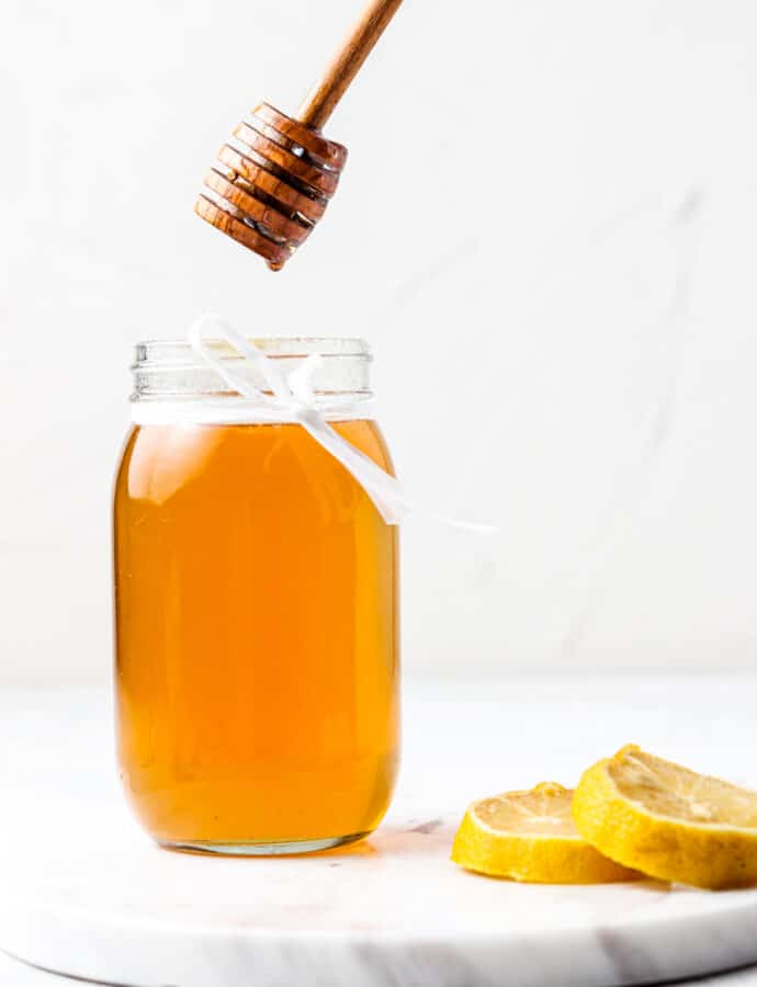 Honey Simple Syrup (Paleo, Refined Sugar Free)