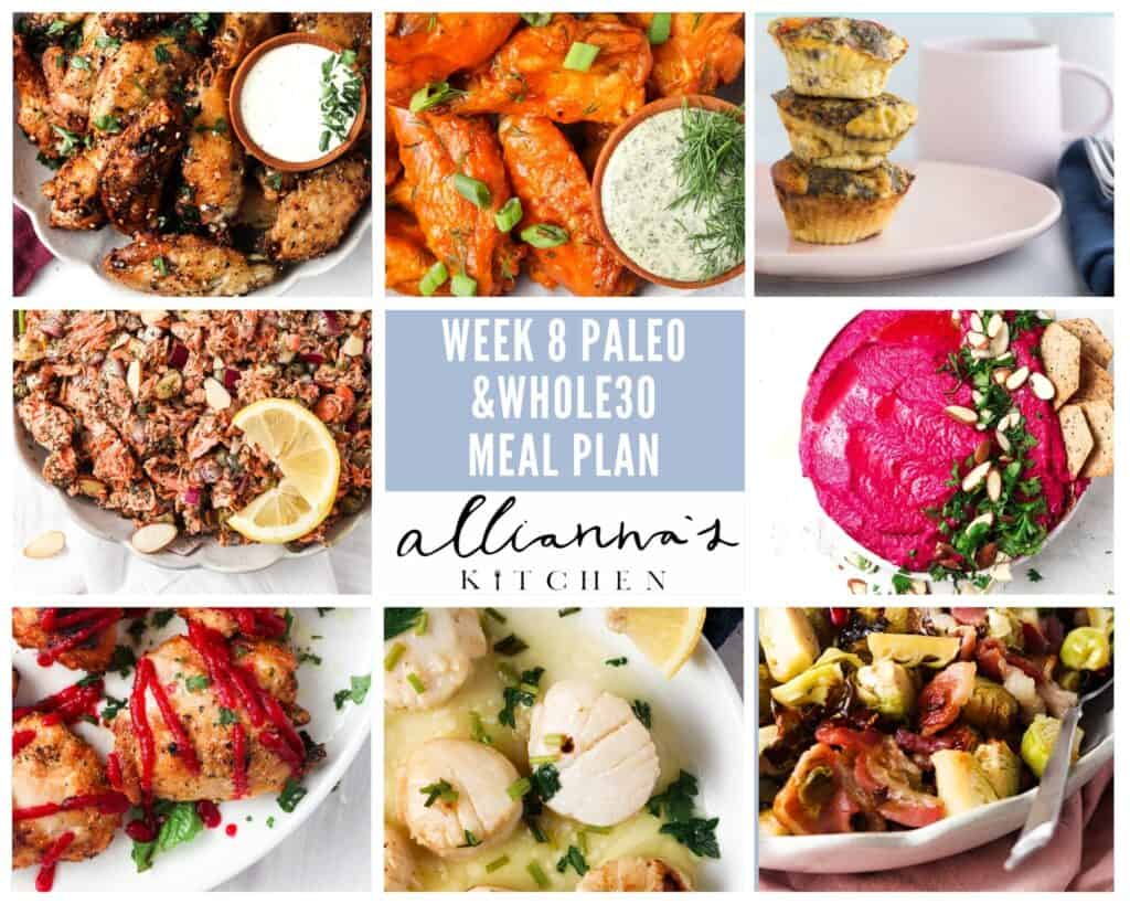 whole30 meal plan photo collage