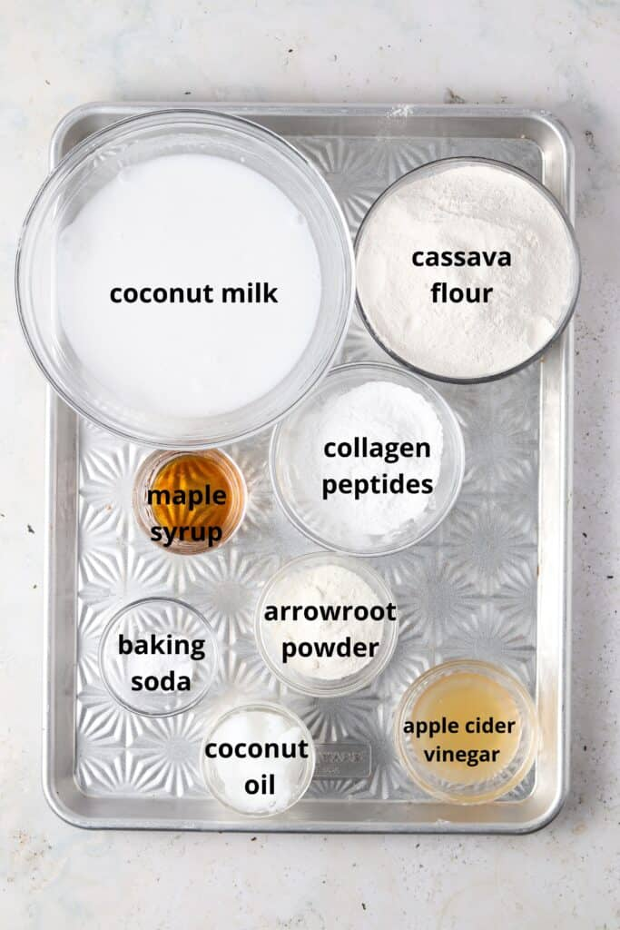 ingredients laid out by a metal tray