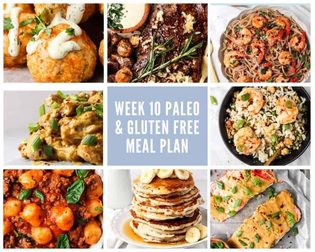 gluten free paleo meal plan collage
