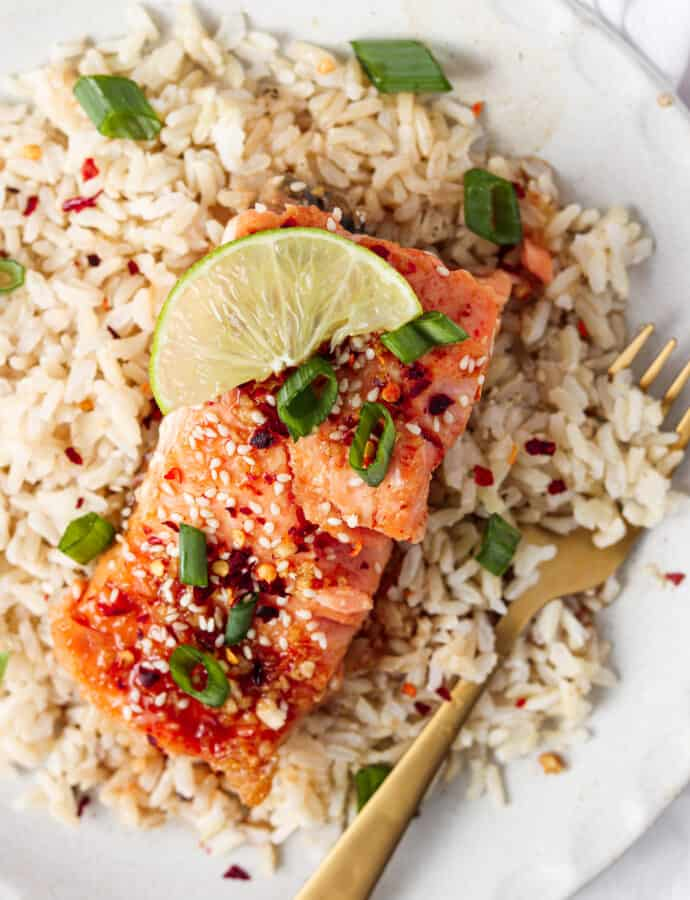 Honey Sriracha Salmon (Paleo, Gluten Free)