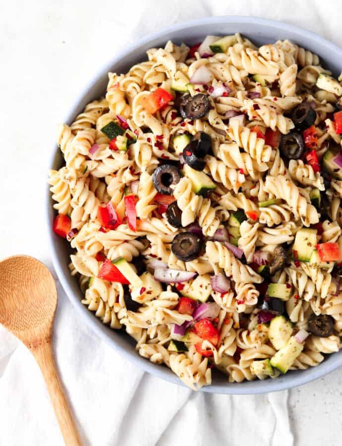 Paleo Pasta Salad (AIP, Vegan, Gluten Free, Dairy Free)