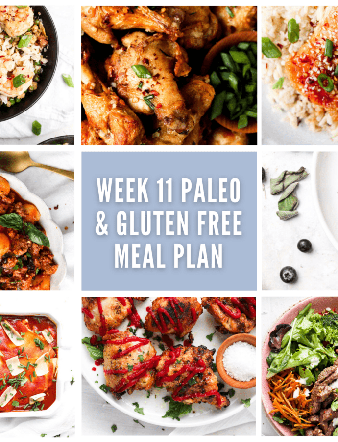 Weekly Meal Plan Photo Collage