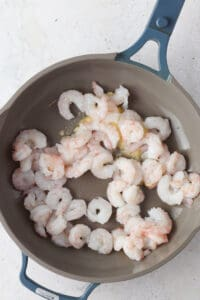 shrimp in a pan cooking with ghee