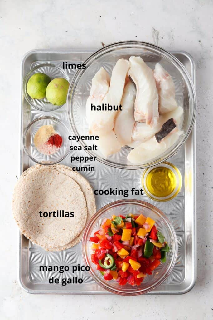 ingredients on a tray
