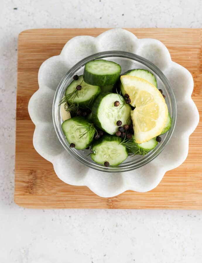Lemon Cucumber Pickles