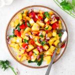 pineapple pico de gallo on a plate