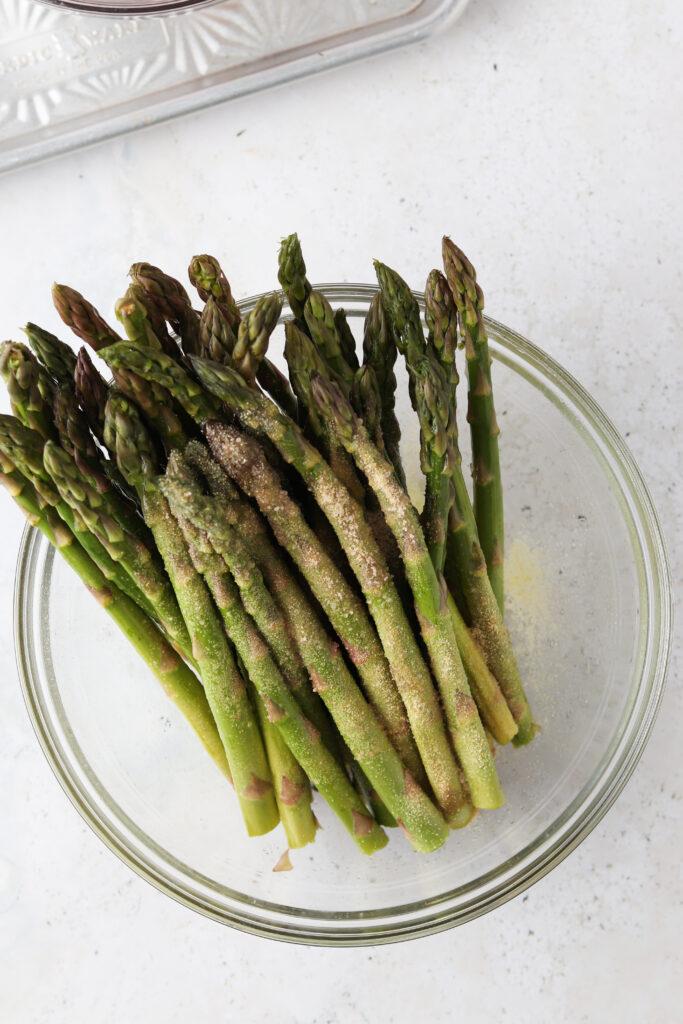 asparagus in a bowl