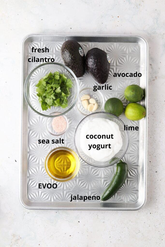 ingredients on a sheet pan