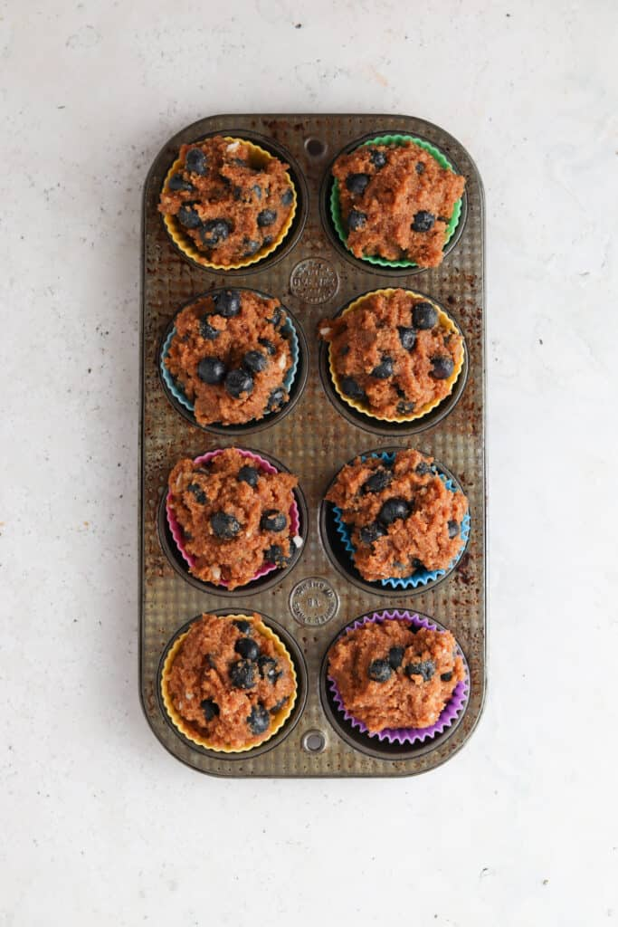 cooked blueberry muffins