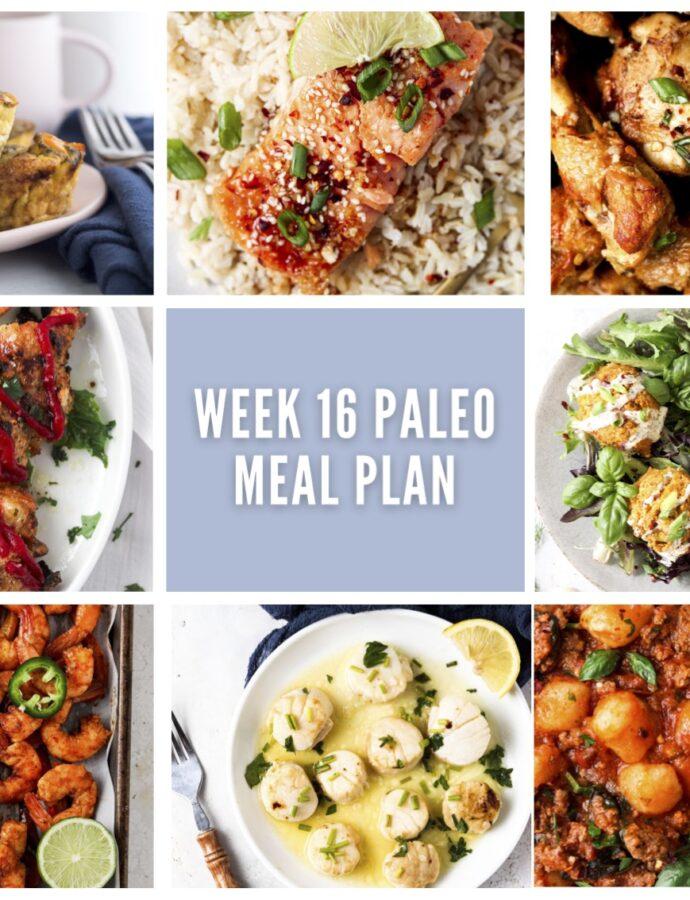 Week 16 Paleo Meal Plan
