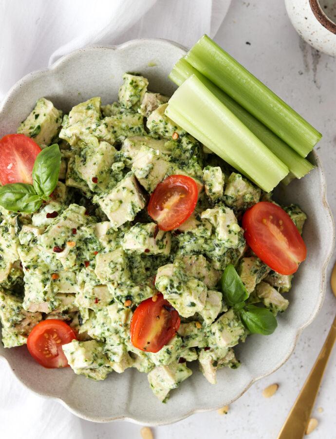 Pesto Chicken Salad (Paleo, Whole30, Keto)