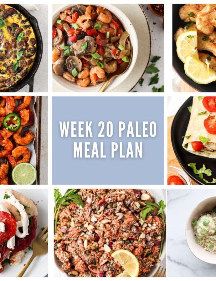 Week 20 Paleo Meal Plan