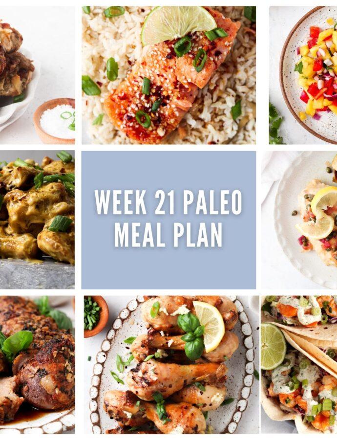 Week 21 Paleo Meal Plan