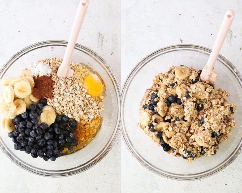 how to make blueberry banana oats