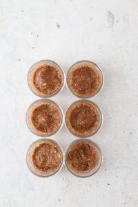 paleo cheesecake crust in mason jars