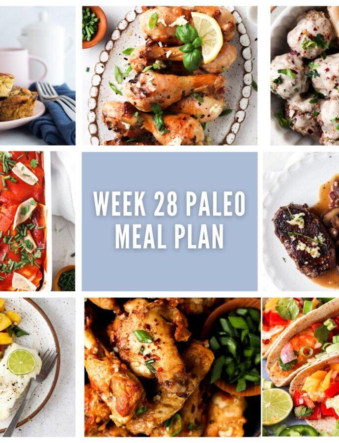 Paleo Meal Plan Week 28